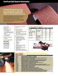 FastTrack Belt General Information 2 - Carborundum Abrasives for ...