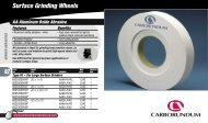 Surface Grinding Wheels - Carborundum Abrasives for the Industrial ...