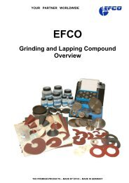 Grinding and Lapping Compound Overview - EFCO Maschinenbau ...