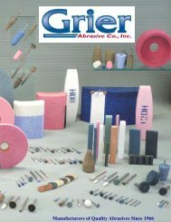 Manufacturers of Quality Abrasives Since 1966 - GRIER ABRASIVE ...