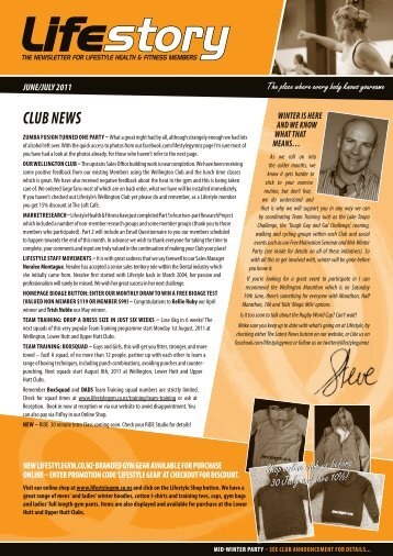 CLUB NEWS - Lifestyle – Health and Fitness Clubs