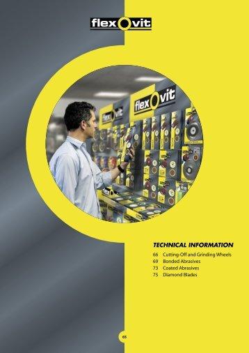 Flexovit Merchandising Catalogue: Technical Information