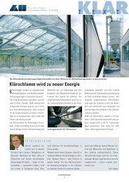 Klärschlamm wird zu neuer Energie - Kuster + Hager