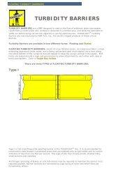 TURBIDITY BARRIERS - ACF Environmental