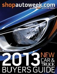 2013 New Car & Truck Buyers Guide - Autoweek