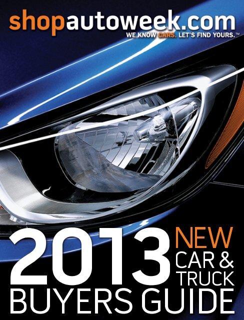 2013 New Car & Truck Buyers Guide - Autoweek