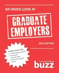 An Inside Look at Graduate Employers