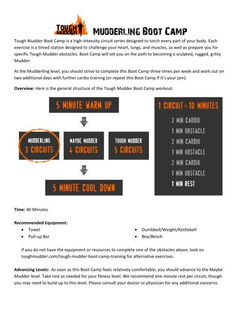 Mudderling Boot Camp Download - Tough Mudder