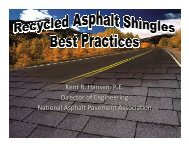 Kent R. Hansen, P.E. Director of Engineering National Asphalt ...