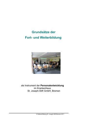 Grundsätze der Fort- und Weiterbildung - Krankenhaus St. Joseph ...