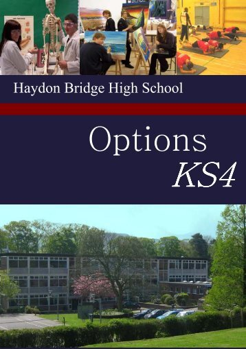 KS4 Options Booklet - Haydon Bridge Community High School