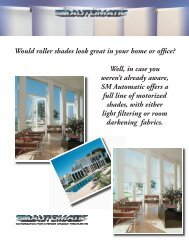 Would roller shades look great in your home or office ... - SM Automatic