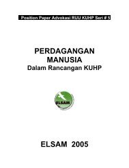 PERDAGANGAN MANUSIA ELSAM 2005