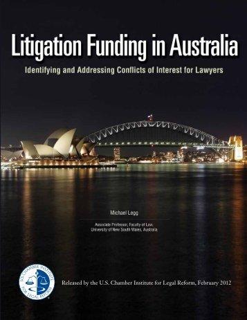 Litigation Funding in Australia - Institute for Legal Reform