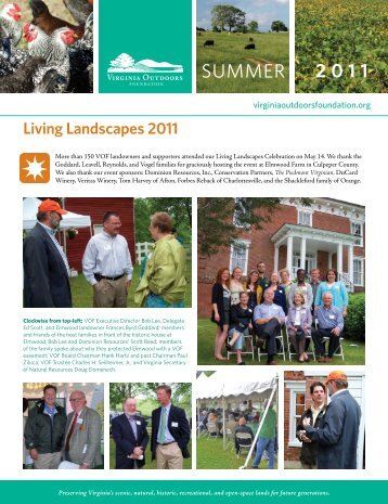 Summer 2011 Newsletter - Virginia Outdoors Foundation