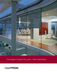 The Classico Collection by Lutron® |roller shade fabrics