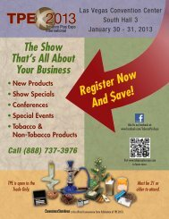 Register Now And $ave! - Tobacco Plus Expo