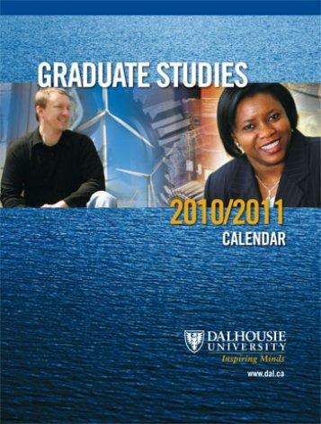 Graduate Calendar.book - Dalhousie University