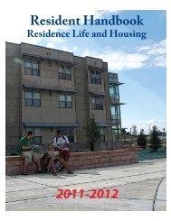 Resident Handbook 2011-2012 - Colorado State University-Pueblo