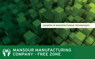 leaders in manufacturing technology - Mansour Holding Company ...