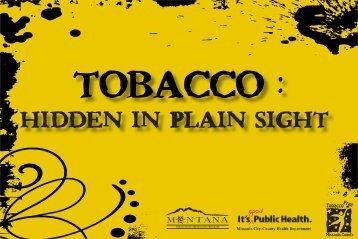 Tobacco - Missoula County Home