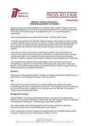 Download press release PDF - Imperial Tobacco