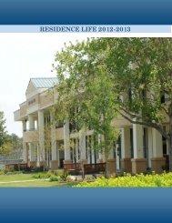 Residence Life Handbook - Charleston Southern University
