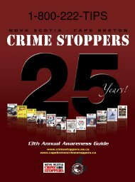 Download Awareness Guides - Nova Scotia Crime Stoppers