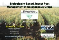 Biologically-based insect pest management in solanaceous crops