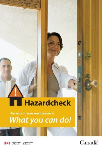 Hazardcheck - Hazards in your environment - What you can do!