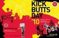 KICK BUTTS DAY '10 - NC Health and Wellness Trust Fund