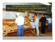 Stripping Burley Tobacco – - BAE
