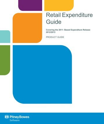 Retail Expenditure Guide 2012/2013 - Product Documentation