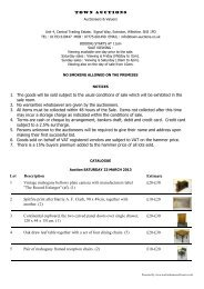 to download pdf catalogue - Town Auctions