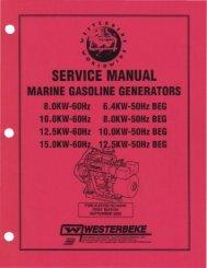service manual 44240 8.0, 10.0, 12.5 and 15.0 - Westerbeke