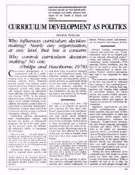CURRICULUM DEVELOPMENT AS POLITICS - ASCD
