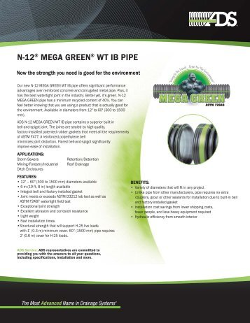 ADS Mega Green Water Tight SS.indd - Advanced Drainage Systems