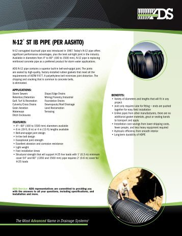 n-12® ST IB PIPe (Per aaShTo) - Advanced Drainage Systems