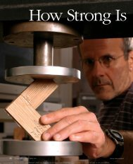 How Strong Is Your Glue? Fine Woodworking - Old Brown Glue