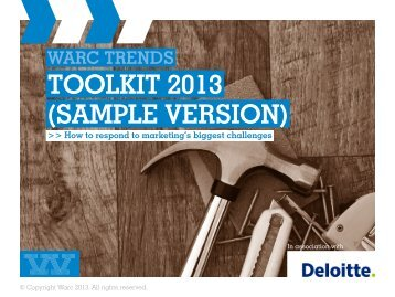 TOOLKIT 2013 (SAMPLE VERSION) - Warc