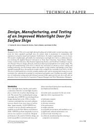 Design, Manufacturing, and Testing of an Improved Watertight Door ...