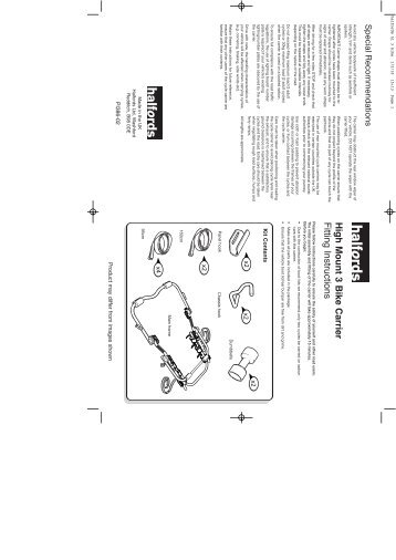 CM03/CM03AN Lo Mount 3 Cycle Carrier Fitting Instructions