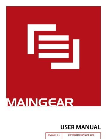 user manual - Maingear