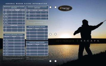 General wader sizing information - Merrick Tackle