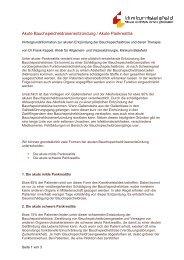 Akute Bauchspeicheldrüsenentzündung / Akute Pankreatitis