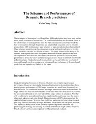 The Schemes and Performances of Dynamic Branch predictors