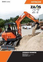 HYDRAULIC EXCAVATOR - Hitachi Construction Machinery Europe