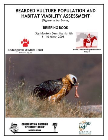 BEARDED VULTURE POPULATION AND HABITAT VIABILITY ...