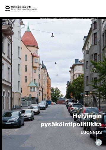 Helsingin pysäköintipolitiikka