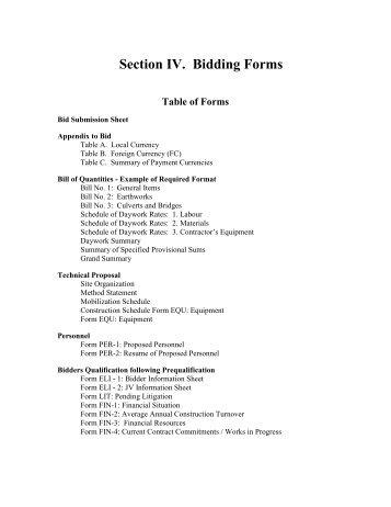 ballot bidding form